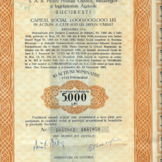 NITROGEN 10 ACTIUNI A 500 LEI EMISIUNEA IV BUCURESTI 1944 II