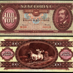 UNGARIA BANCNOTA DE 100 FORINT 1962 PERFECT UNC - bancnota europa