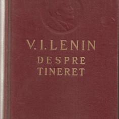(C786) V. I. LENIN, DESPRE TINERET, EDITURA TINERETULUI, BUCURESTI, 1956, SI DOCUMENTUL ALATURAT