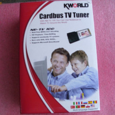Cardbus TV TUNER KWORLD NB-TV100 - TV-Tuner PC Kingston