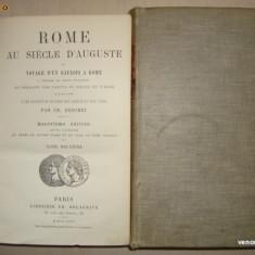 CH. DEZOBRY - ROME AU SIECLE D'AUGUSTE 2 volume {1886} - Carte de lux