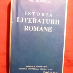 Gh.Adamescu - Istoria Literaturii Romane cca1922 BPT