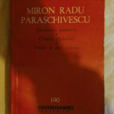 Miron Radu Paraschivescu Declaratie patetica * Cantice tiganesti * Laude si alte poeme BPT 1963
