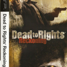 JOC PSP DEAD TO RIGHTS RECKONING ORIGINAL / STOC REAL / by DARK WADDER - Jocuri PSP Namco Bandai Games, Actiune, 16+, Single player