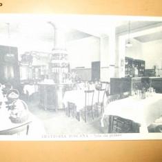 Carte postala Trattoria Toscana Restaurant sala de pranz 1925