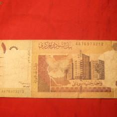 Bancnota 1 LIRA SUDANEZA, stare mediocra