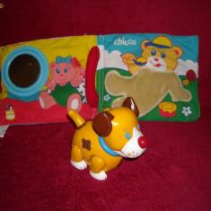 Chicco - Carte interactiva pentru carucior si locul de joaca si catel cu zornaitoare - 3 luni + - Jucarie carucior copii