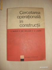 J. AURIAN * GH. BOLDUR * S. LAZAR - CERCETAREA OPERATIONALA IN CONSTRUCTII {1967}