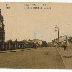 40 - IASI, street STEFAN cel MARE - old postcard - used - 1924 - Carte Postala Moldova 1904-1918, Circulata, Printata