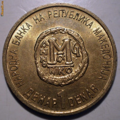 E.239 MACEDONIA 1 DENAR 2000 XF/AUNC 2.000ex., Europa, Bronz