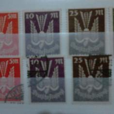 Timbre germania reich 1923 mi 263-267 val.97 euro