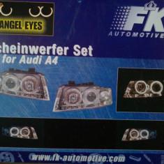 Kit faruri angel eyes Audi A4 (an 2000-2002)