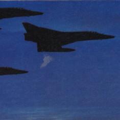Carte postala ilustrata AVIATIE -  Avioane supersonice militare