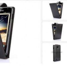Husa piele  Samsung Galaxy Note i9220 + folie protectie ecran + expediere gratuita toc flip