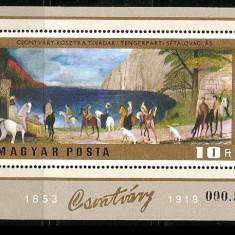 Ungaria, pictura, colita - Timbre straine