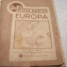 WW II  1943 GERMANIA -  HARTA EUROPA