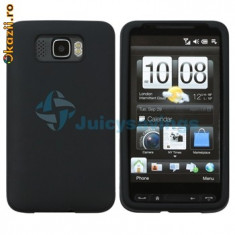 Husa silicon negru antiradiatii htc hd2 + folie ecran - Husa Telefon