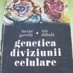 GENETICA DIVIZIUNII CELULARE LUCIAN GAVRILA / ION DADALA