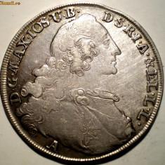 G.242 GERMANIA BAVARIA MAXIMILIAN III JOSEF 1 TALER THALER 1765 A ARGINT 28, 02g, Europa