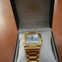Ceas Morgan&Headley cronograf - placat cu aur - Ceas barbatesc