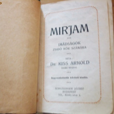 MIRJAM *** IMADSAGOK ZSIDO NOK SZAMARA - dr. Kiss Arnold - Carte de rugaciuni