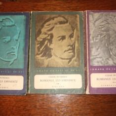 Cezar Petrescu - Romanul lui Eminescu (3 volume)