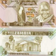 BACNOTA ZAMBIA 2 KWACHA