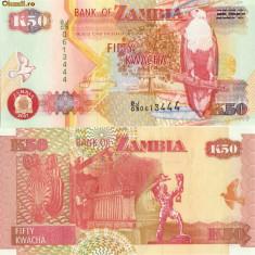 BACNOTA ZAMBIA 50 KWACHA 2007