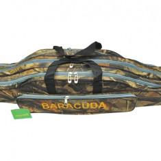 Geanta ( Husa) lansete 3 compartimente BARACUDA New Camouflage 90cm B9 - Geanta pescuit