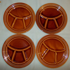 AuX: Set 4 Farfurii NOI - Portelan