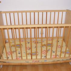 Pat copil de la 0 la 3 ani - Patut lemn pentru bebelusi, Maro