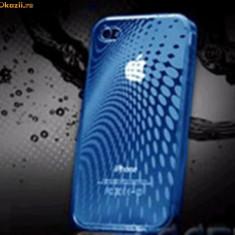 Husa Telefon Apple (GEL) iPHONE 4/4G/4S/4GS, Albastru, Silicon