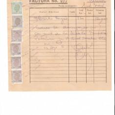 290 Document vechi fiscalizat-03sept1946-Factura 407-Marcu Ost -Comitetul scolar comuna Perisoru (Ianca), jud.Braila-a fost indosariat prin coasere
