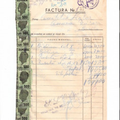288 Document vechi fiscalizat-28aug1946-Factura nr137 -Goldenberg -Comitetul scolar comuna Perisoru (Ianca), jud.Braila-a fost indosariat prin coasere