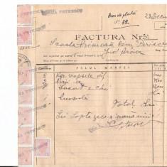 297 Document vechi fiscalizat-28dec1946-Factura nr.54 -Scoala Primara comuna Perisoru(Ianca), jud.Braila-a fost indosariat prin coasere