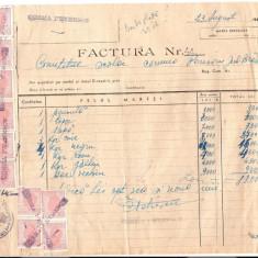 286 Document vechi fiscalizat-23aug1946- Factura nr.44-Comitetul scolar comuna Perisoru (Ianca), jud.Braila-a fost indosariat prin coasere