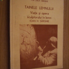 TAINELE LEMNULUI * Viata si opera sculptorului in lemn IOAN H. SARGHE -- Stela Serghie - Carte sculptura