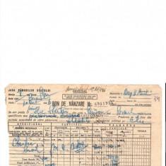 295 Document vechi-10oct1946-Bon de vanzare-Casa Padurilor Statului -Scoala Primara comuna Perisoru(Ianca), jud.Braila-a fost indosariat prin coasere