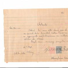 298 Document vechi fiscalizat-11ian1947-Chitanta -Comitetul Scolar comuna Perisoru(Ianca), jud.Braila-a fost indosariat prin coasere