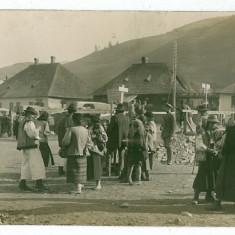 2628 - Maramures, RUSZPOLYANA, Market - old postcard, real FOTO - unused - Carte Postala Maramures 1904-1918, Necirculata, Fotografie