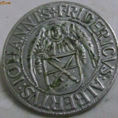 Brosa din moneda argintata Iohannes Fridericus Albertus