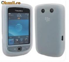 husa alba silicon slide Blackberry Torch 9800