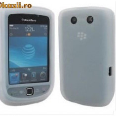 Husa alba silicon slide Blackberry Torch 9800 - Husa Telefon