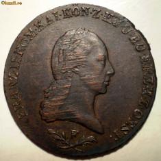 E.347 AUSTRIA FRANZ II 6 KREUZER 1800 F, Europa, Cupru (arama)