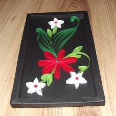 tablou quilling flori