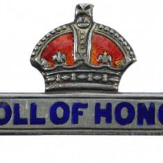Anglia - Bareta de argint emailata - Roll of Honour
