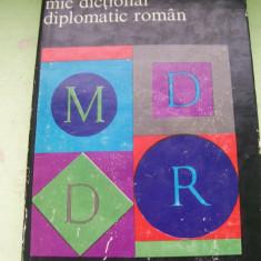 MIC DICTIONAR DIPLOMATIC ROMAN - Enciclopedie