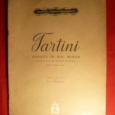 Caiet Partituri - Tartini -Sonata sol minor violina si pian -1961