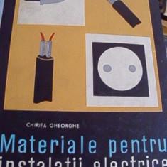 MATERIALE PENTRU INSTALATII ELECTRICE
