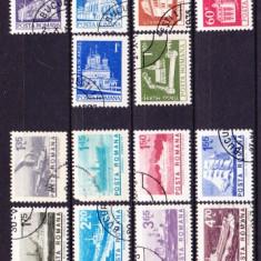 Timbre RO. 1973/* 837 si *838 Monumente valori mici si Nave Meritime si Fluviale